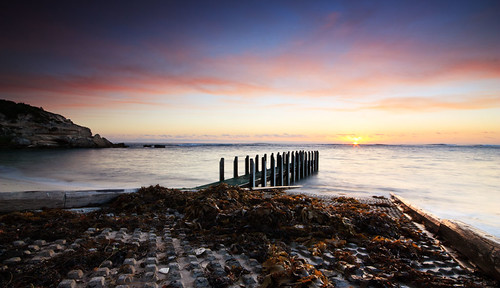 sunset waves jetty wa margaretriver westernaustralia gnarabupbeach