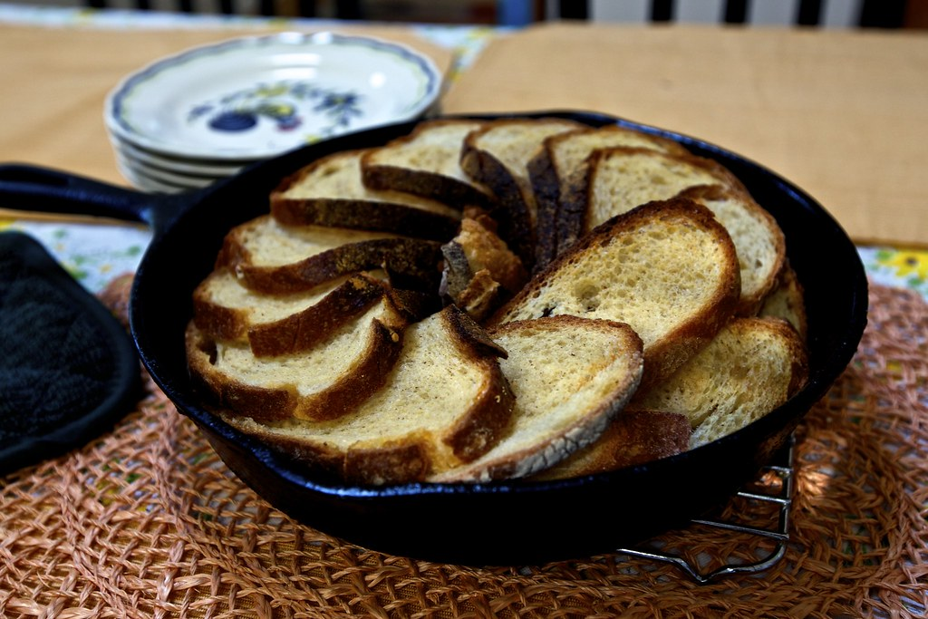 Skillet Baked French Toast Came Up A Little Short On Custa Flickr