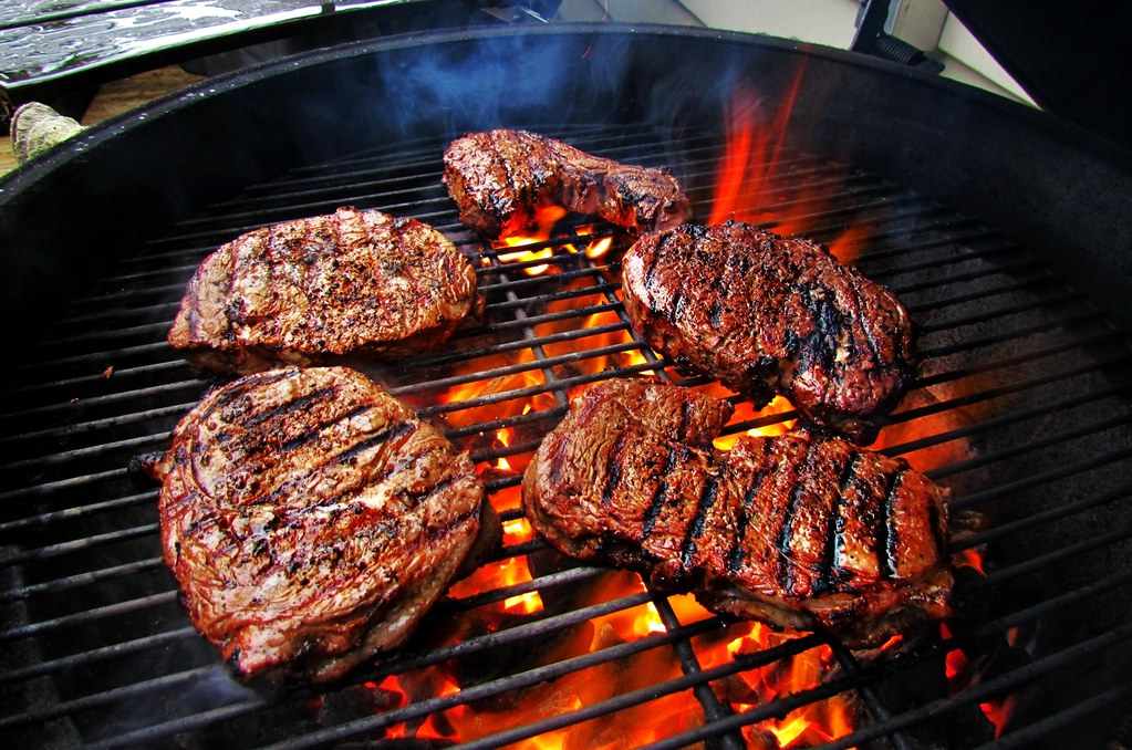 Image result for big green egg sear steak