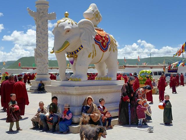Courtyard of Sershul temple, Tibet 2014