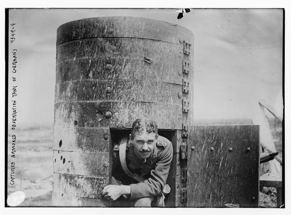 Captured armored observation tank of Germans (LOC)