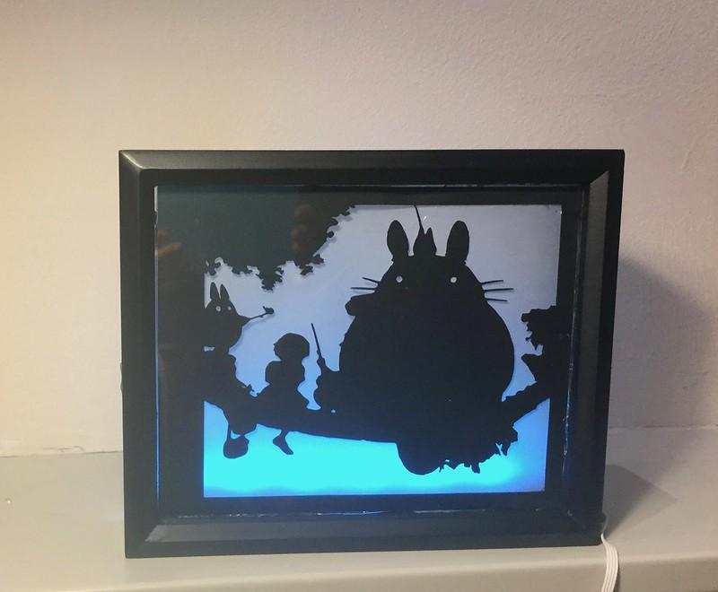 totoro shadow box
