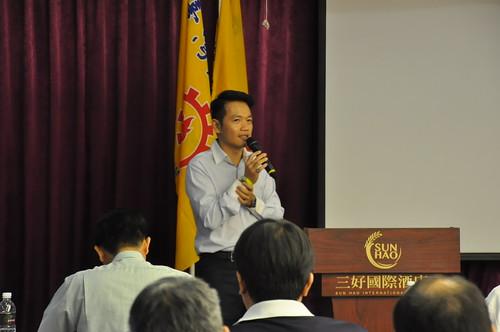 圖05勞動部勞動關係司許根魁科長講授勞動法規及工會法