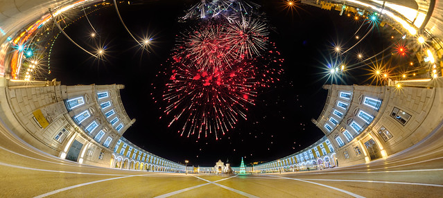 The New Year's grand entrance to Lisbon