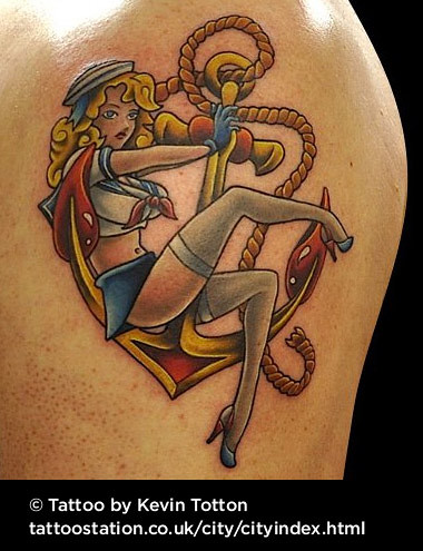 36ca23969 Sailor girl tattoo | by KevinTotton Sailor girl tattoo | by KevinTotton