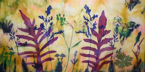 Handmade Silk Scarf (made in 2008)   by X by Leina Neima