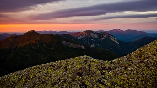 sunset mountain mountains landscape purple pentax peak upstate adirondacks basin haystack lichen saddleback alpenglow kx gothics highpeaks wolfjaw
