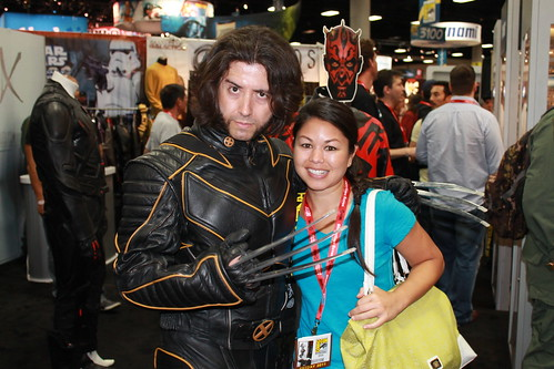 Wolverine and Carlissa at Comic-Con 2011 | by Castles, Capes & Clones