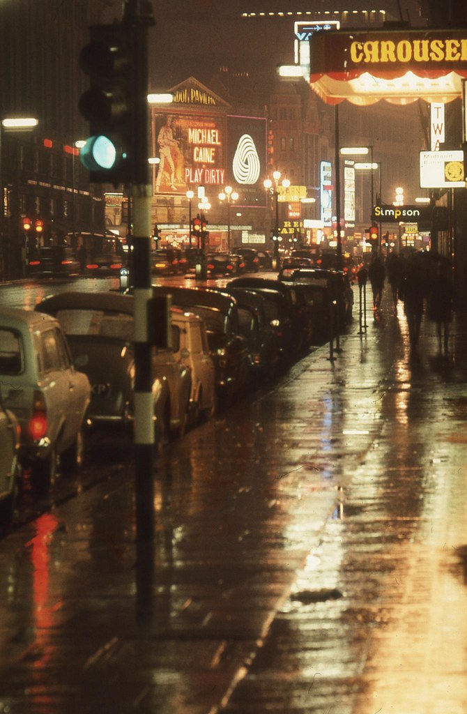 England 1969 - London, Piccadilly looking towards Piccadilly Circus