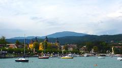 Вид с набережной в городе Velden