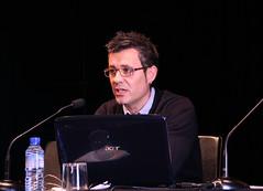 El director de Formación de Lanbide, Pedros Sánchez en la presentación del Estudio de INCYDE, S.L.: La incidencia de la FP para el empleo en la elaboración de Estrategias Innovadoras en las empresas, realizado en Ermua.