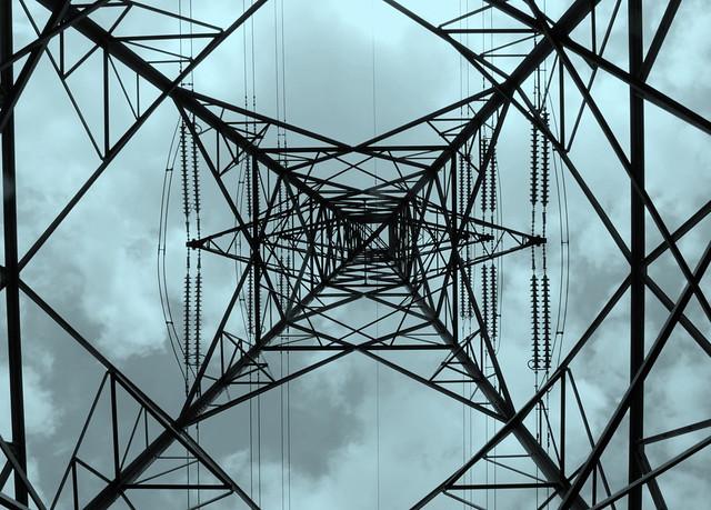 High Voltage_National Grid Pylon_Birmingham_Jun10