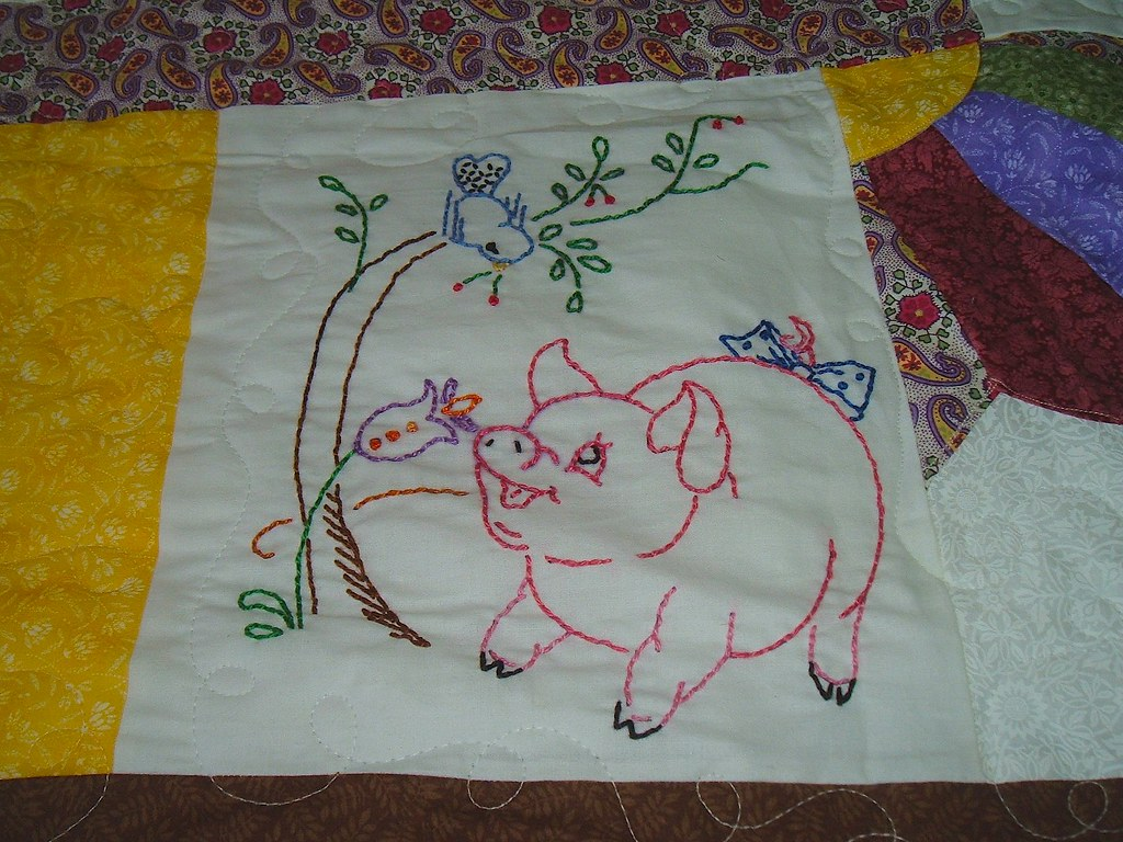 Embroidered Quilt - Down on the Farm   Alice Happel   Flickr