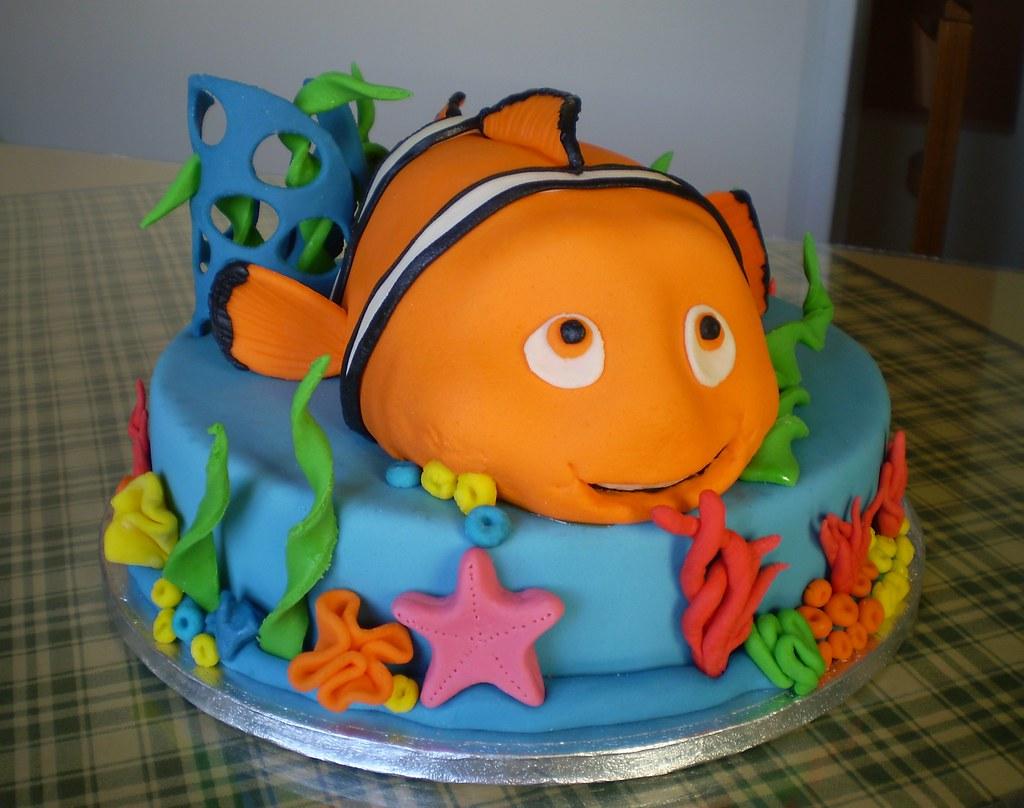 Brilliant Nemo Birthday Cake Ks Fondant Cakes Flickr Funny Birthday Cards Online Drosicarndamsfinfo