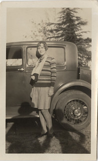 My Latest Venture Into the Vernacular - Flapper, Old Car, and Shadow Couple