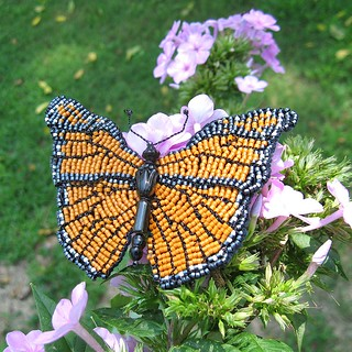 IMG_0664 beaded monarch butterfly