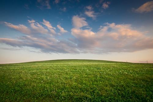 sunset sky grass clouds landscape day cloudy path grassyhill yorkpa highpointscenicvista