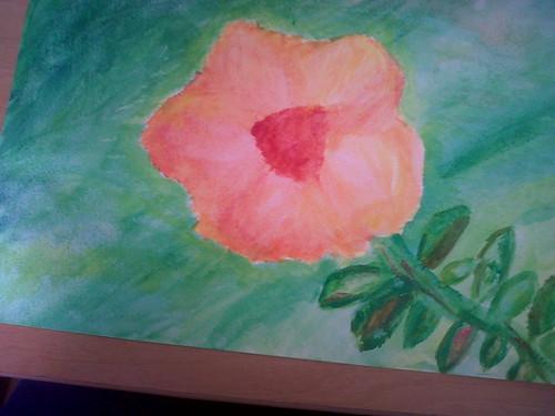 Flor en acuarela