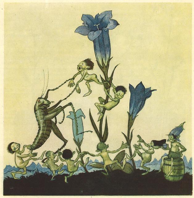 Max Dingler / Der Heuschreck und die Blumen / 05