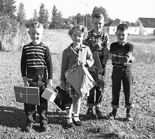 People on the first day of school: 3 happy, 1 grumpy. | by OSU Special Collections & Archives : Commons