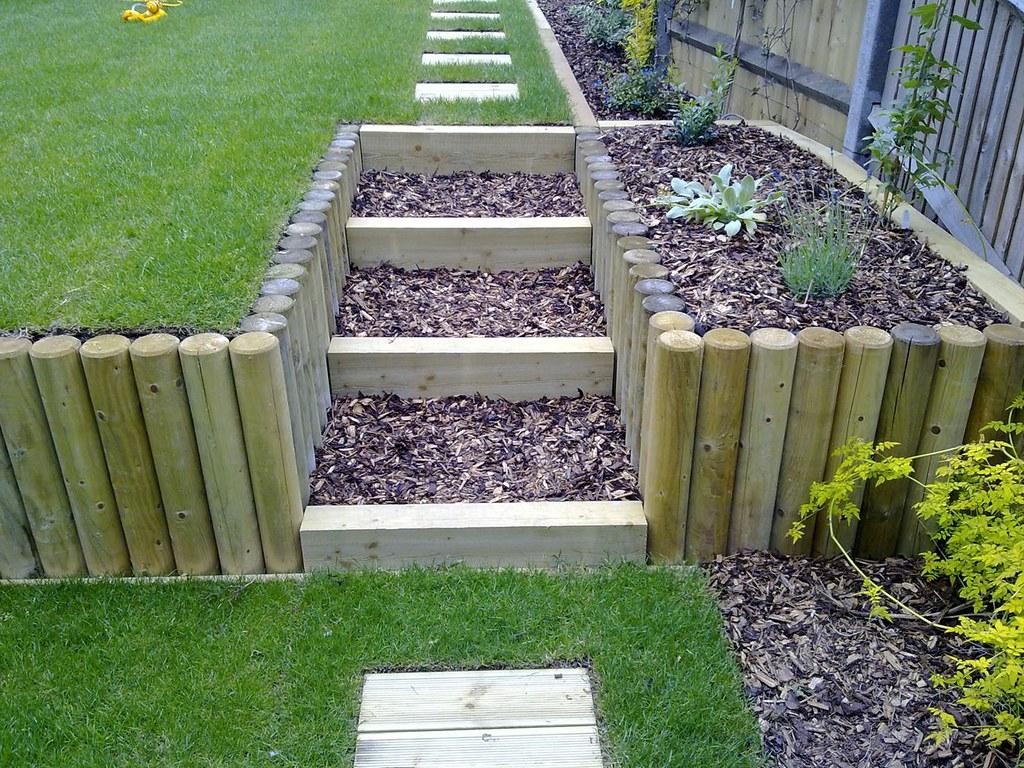 Terracing a sloping garden   These photos show the ... on Garden Ideas For Sloping Gardens id=33770