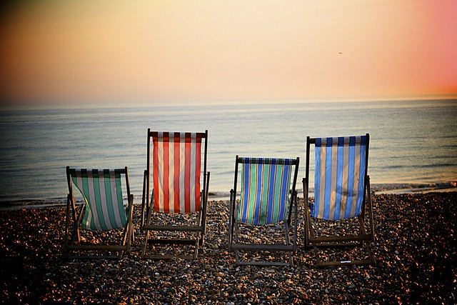 West Sussex English Seaside Deck Chairs