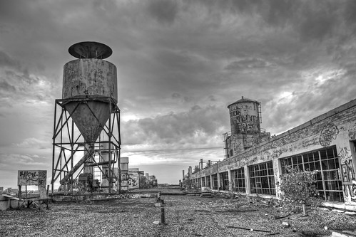 roof blackandwhite bw abandoned industry rooftop clouds mi contrast detroit explore urbanexploration fisher hdr urbex fisherbody21 flickrexplore explored mikekline michaelkline notkalvin notkalvinphotography