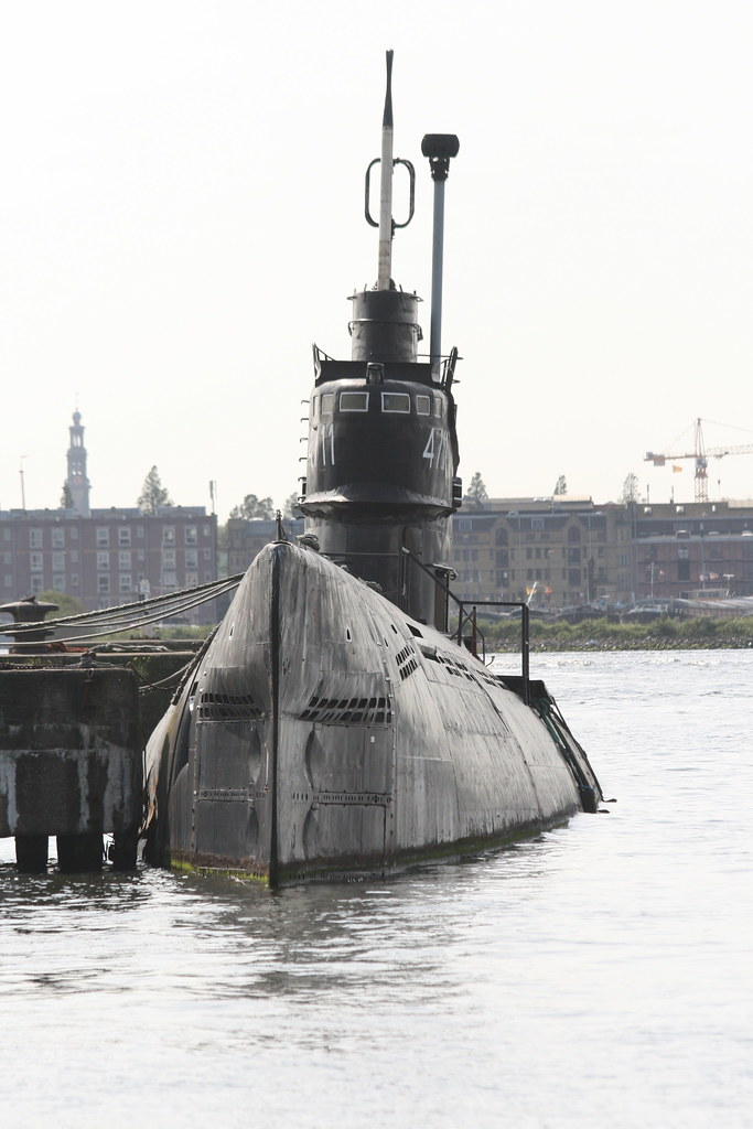 Russian Submarine on the River Ij, Amsterdam | 1960's Russia