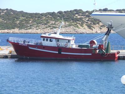 Agios Nikolas Boat in the Harbour