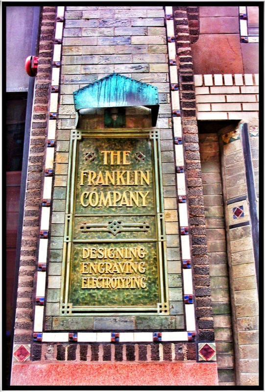 Franklin Building ~  Chicago IL ~ Printers Row ~ Sign