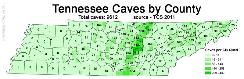 Tennessee Caves by County