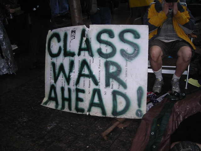 ows sign class war ahead