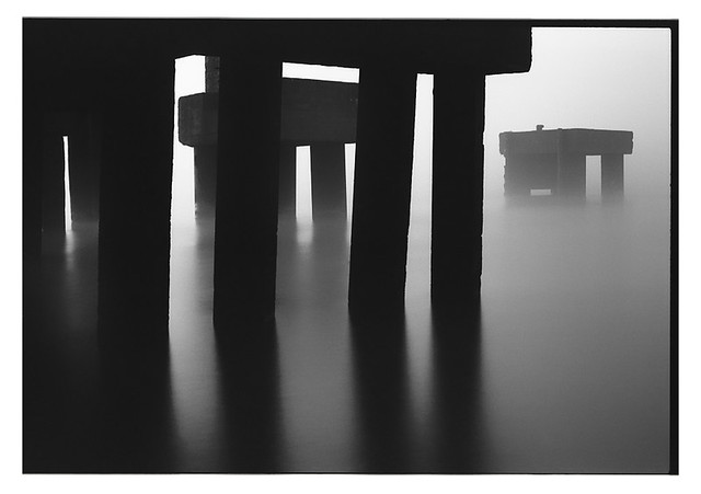 foggy morning in the yacht club
