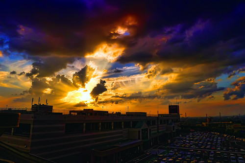 sunset japan lumix panasonic nagoya aeon lx5 nothdr dmclx5 名古屋、日本