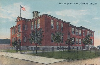 Washington School, Granite City, Illinois | by Six Miles of Local History