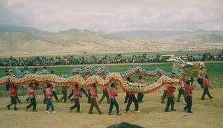 Zhongdian festival, Chinese dragon   by Arian Zwegers