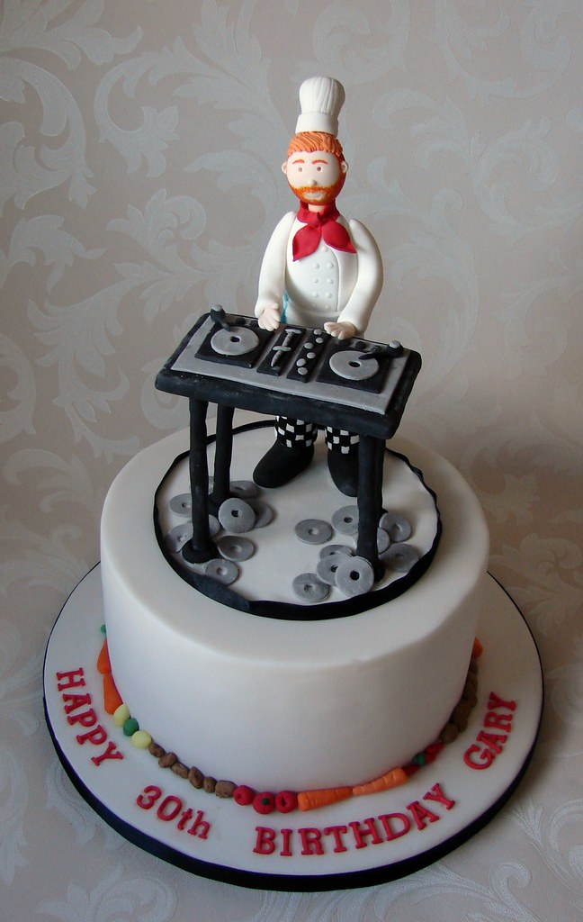 Groovy Chef Dj Birthday Cake A Photo On Flickriver Birthday Cards Printable Benkemecafe Filternl