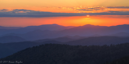 park sunset usa mountains nc national dome smoky hdr clingmans