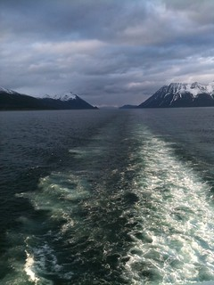 Taken from the deck of the Hurtigruten going up the coast of Norway