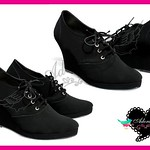 AUDREY BLACK WEDGES