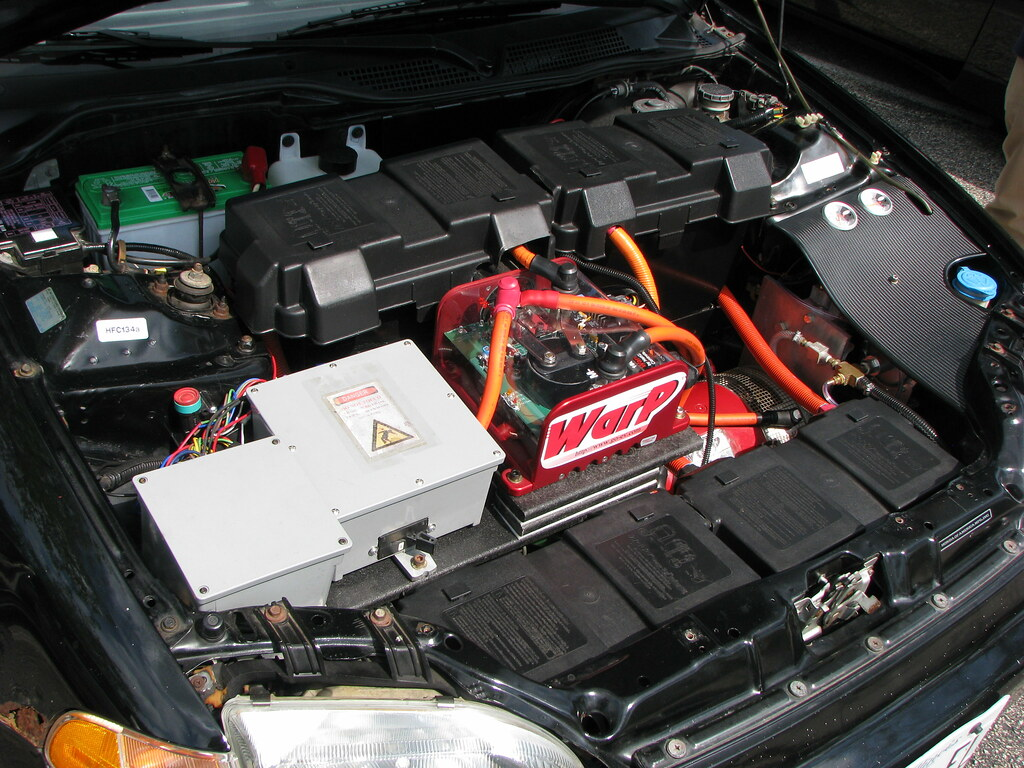 Honda Civic electric conversion | The batteries weren't in t… | Flickr
