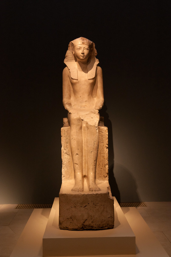 Hatshepsut, New Kingdom, Dynasty 18, reign of Hatshepsut, ca. 1473–1458 b.c. Egyptian; From Deir el-Bahri, western Thebes Indurated limestone   The Metropolitan Museum allows photo shooting providing there is no financial gain.  Please respect their policy