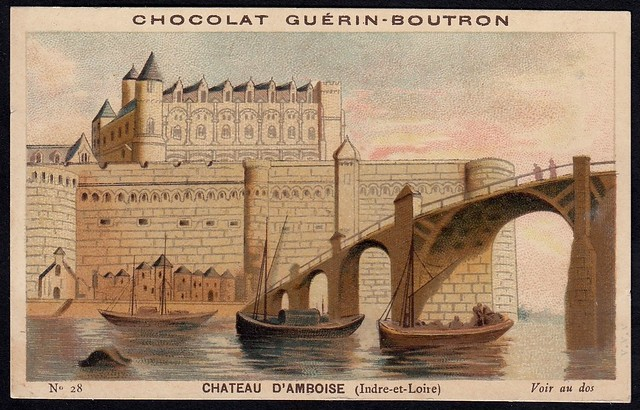 French Tradecard - Chateau d'Amboise