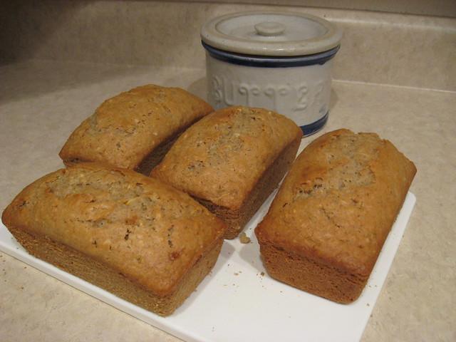 Mini Loaves of Sourdough Zucchini Bread