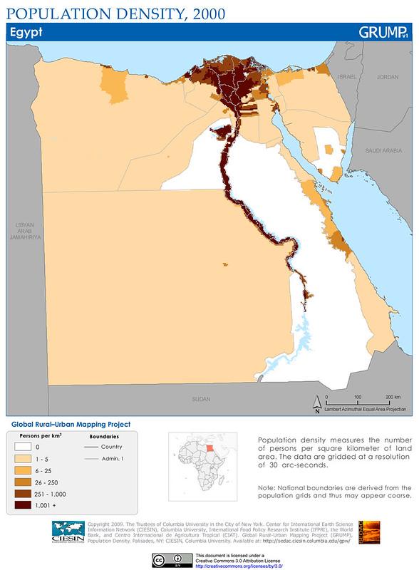 Egypt: Population Density, 2000