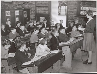 Teacher, Lorraine Lapthorne conducts her class in the Grade Two room at the Drouin State School, Drouin, Victoria
