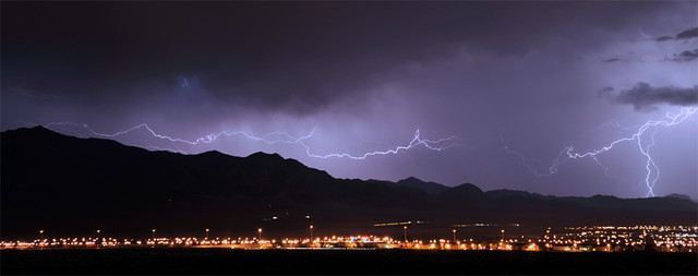 Lightning over Vegas