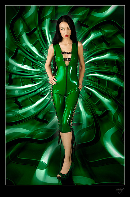 Green Latex Catsuit