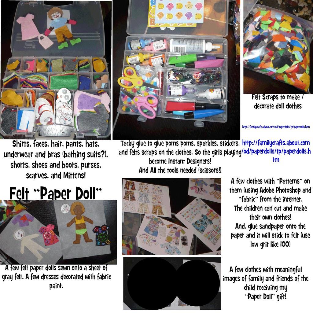 Custom Felt Paper Dolls Birthday Gift Let Your Child Dec