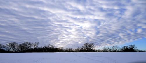 sunset sky snow ozarks